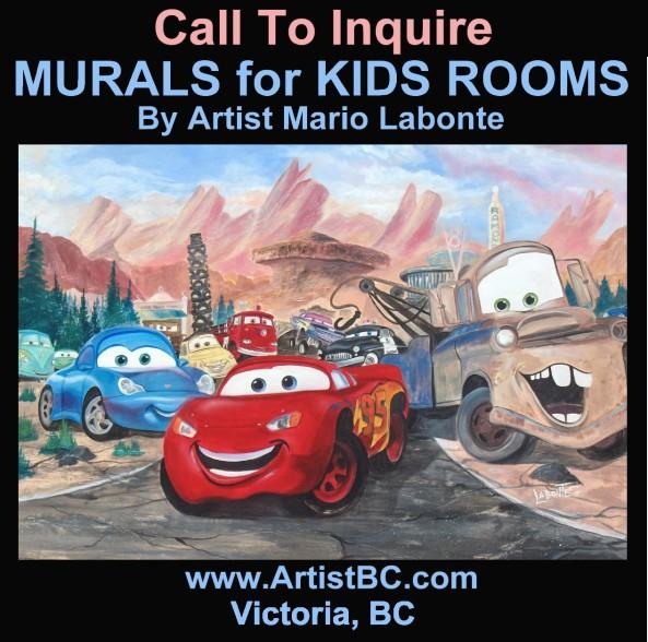 kid room murals victoria BC